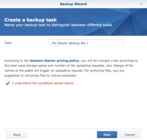Create Task Name for Backup Wizard